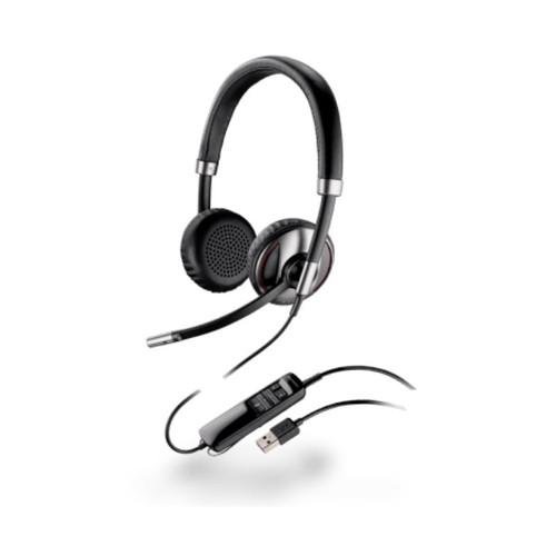Los audífonos Blackwire 725 de Plantronics  son ideales para mantener la concentración en entornos con mucho ruido, cuenta con una tecnología de anulación de ruido.