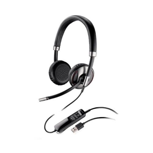 Blackwire 720 Biaural Microsoft cuentan con banda ancha para ordenadores, micrófono con anulación de ruido y sonido estéreo.