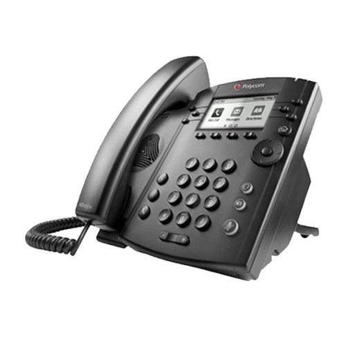 El Teléfono Polycom VVX 311 de 6 líneas es ideal para trabajadores de cubículos.