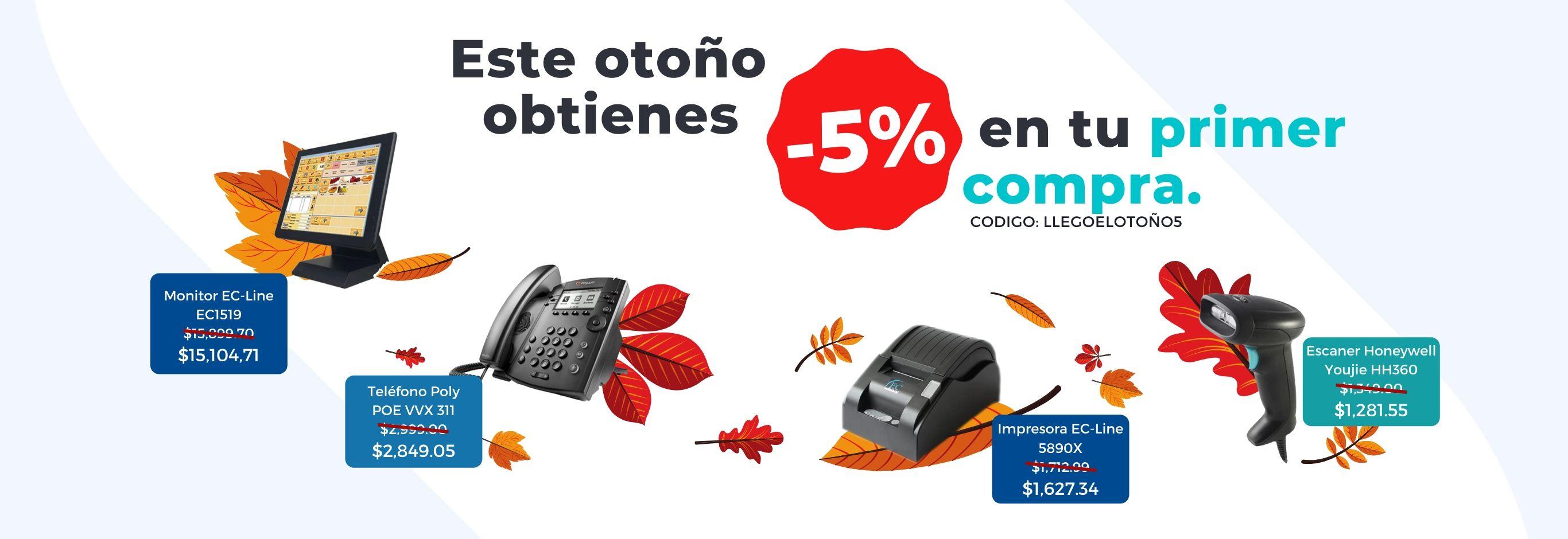 Promocion de otoño: 5% de descuento en tu primer compra.