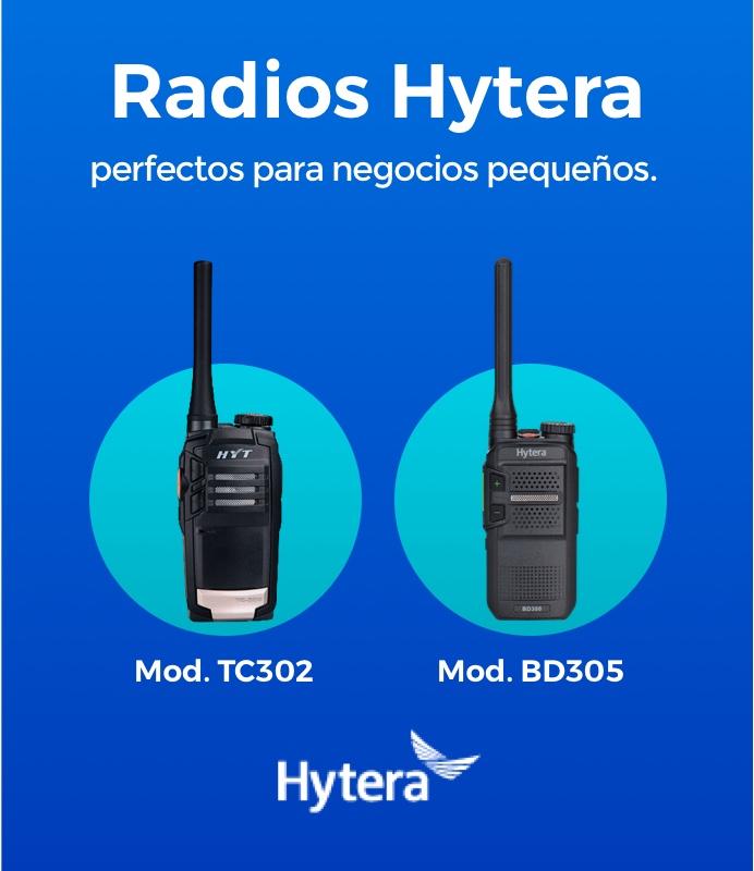 Radios de dos vías Hytera perfectos para negocios pequeños