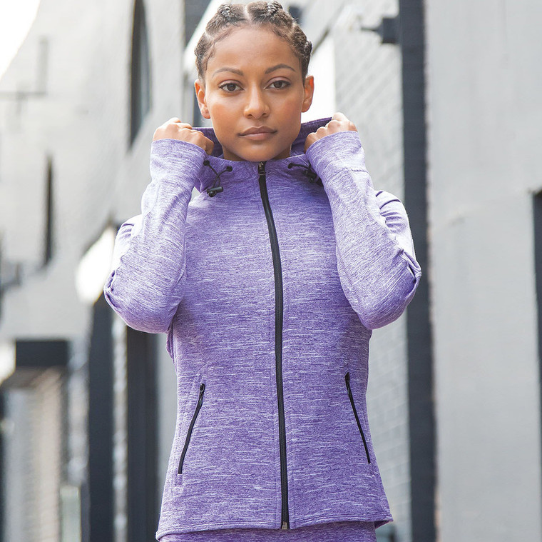 Women's Hoodie with Reflective Tape