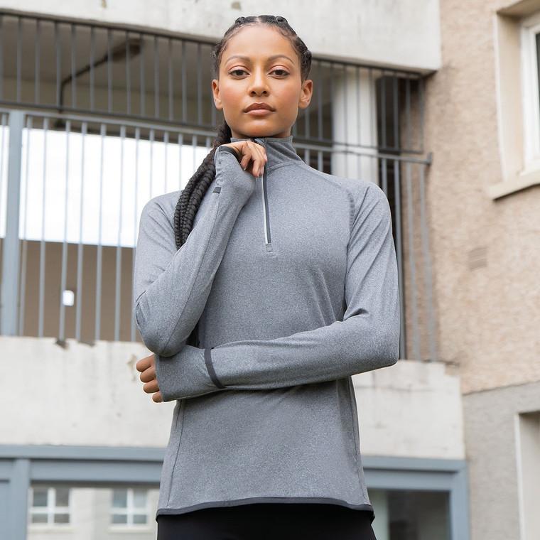 Women's Long-Sleeved ¼ Zip Top