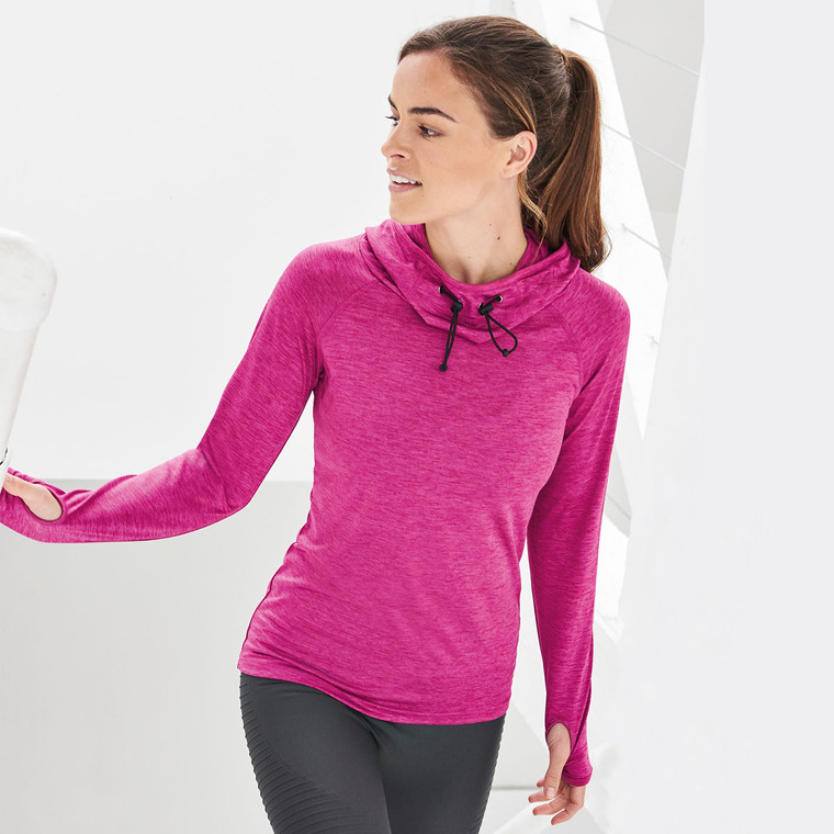 Women's Performance Cowl Neck Top