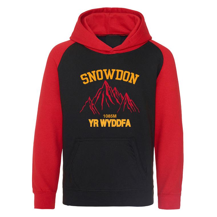 Kids Snowdon Red Mountain Baseball Hoodie