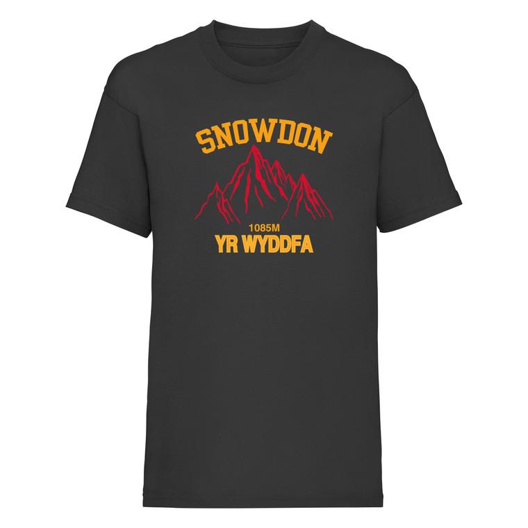 Kids Snowdon Red Mountain T-Shirt