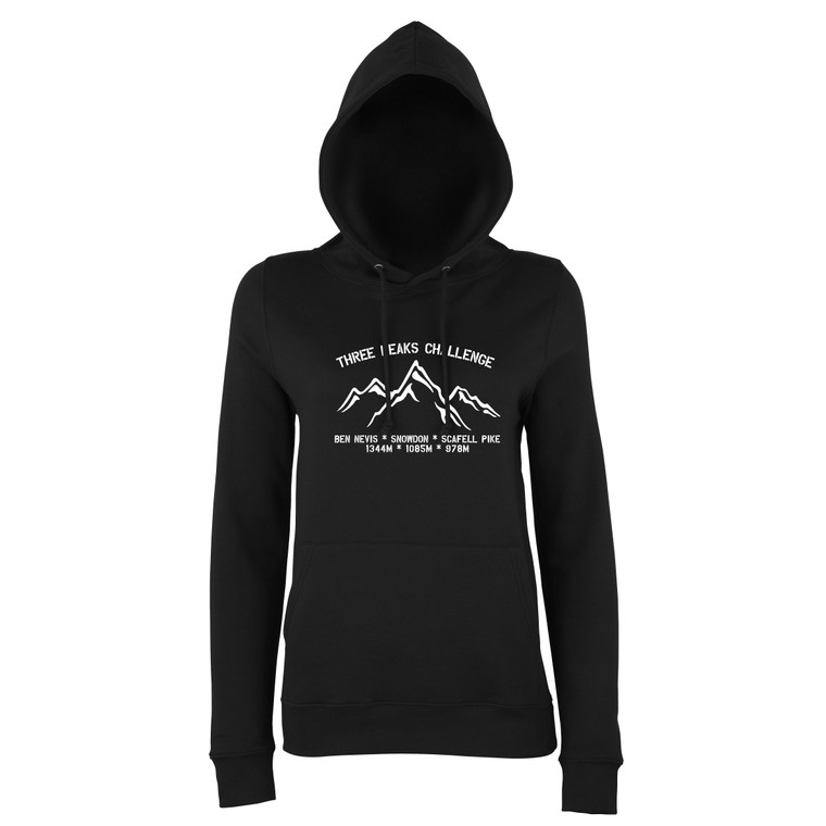 Women's White Three Peaks Challenge Fitted Hoodie