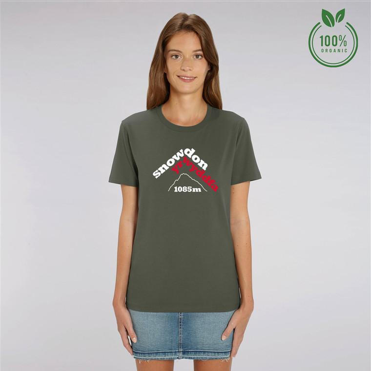 Women's Snowdon Yr Wyddfa Organic Cotton T-shirt