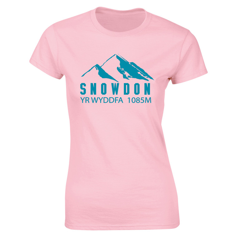 Women's Snowdon Blue Mountain Yr Wyddfa Softstyle T-Shirt