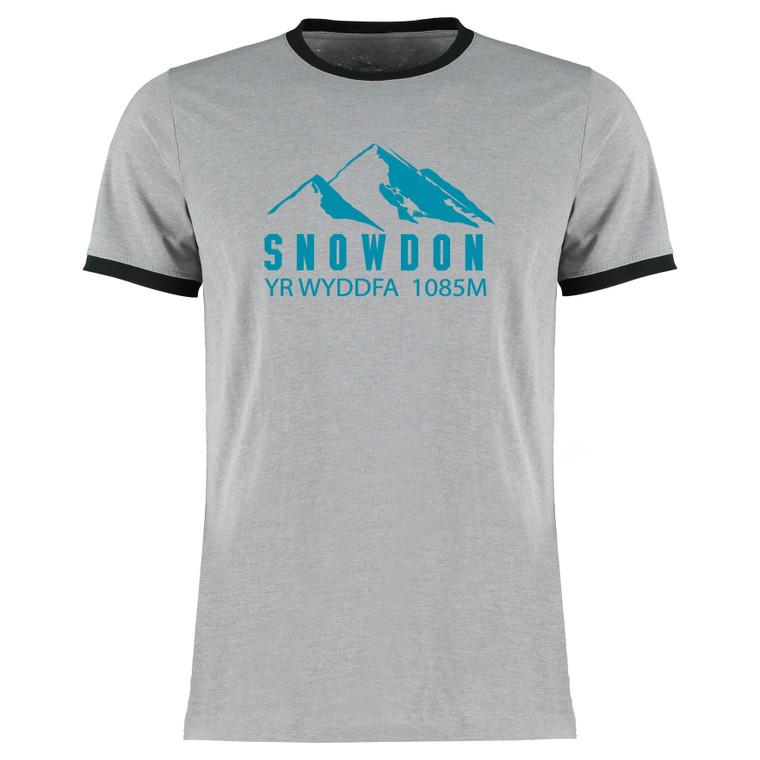 Adult Snowdon Blue Mountain Yr Wyddfa Fitted T-Shirt