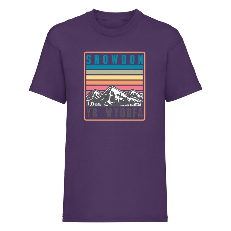 Kids Snowdon Rainbow T-Shirt