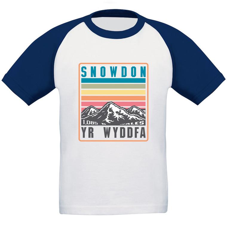 Kids Snowdon Rainbow Baseball T-Shirt