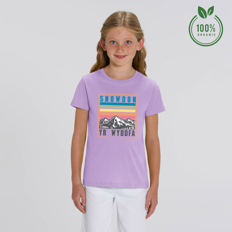 Girls Snowdon Rainbow Organic Cotton T-shirt