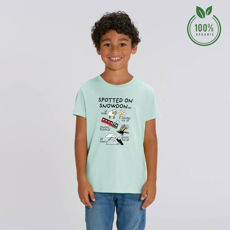 Boys Spotted on Snowdon Organic Cotton T-shirt