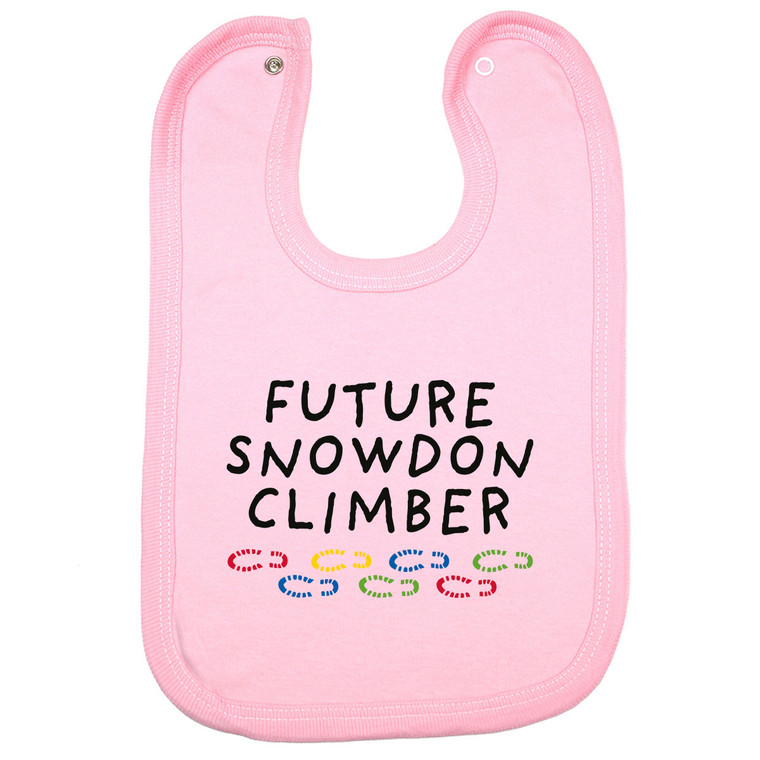 Future Snowdon Climber Snowdon Baby Bib