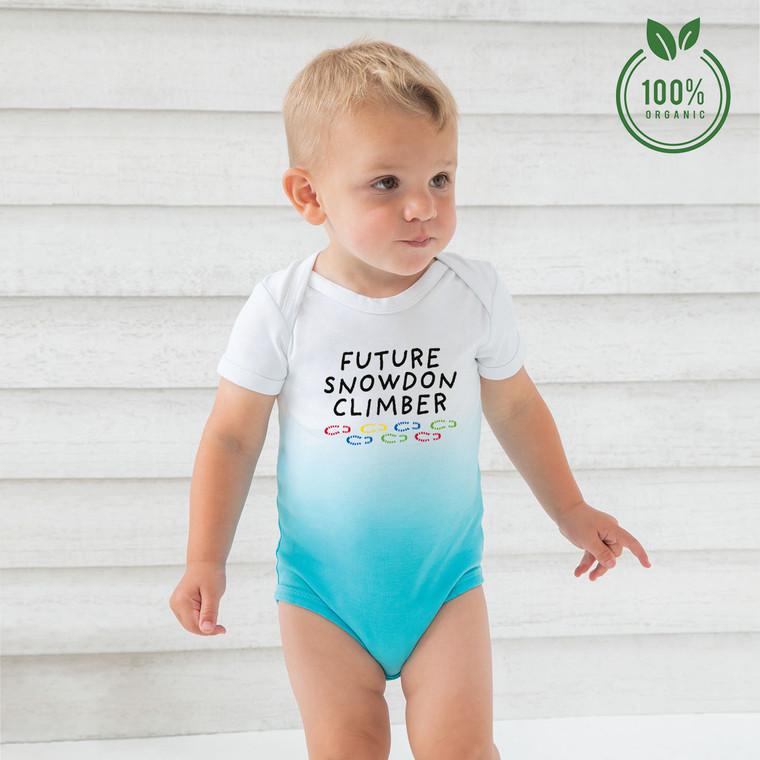Future Snowdon Climber Organic Cotton Ombre Baby Bodysuit