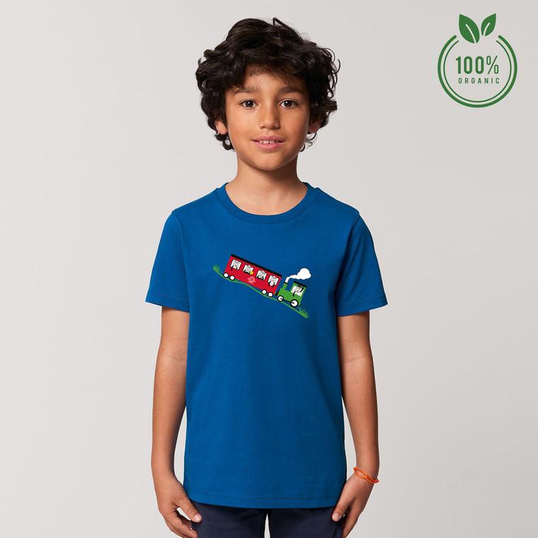 Boys Snowdon Train Organic Cotton T-shirt