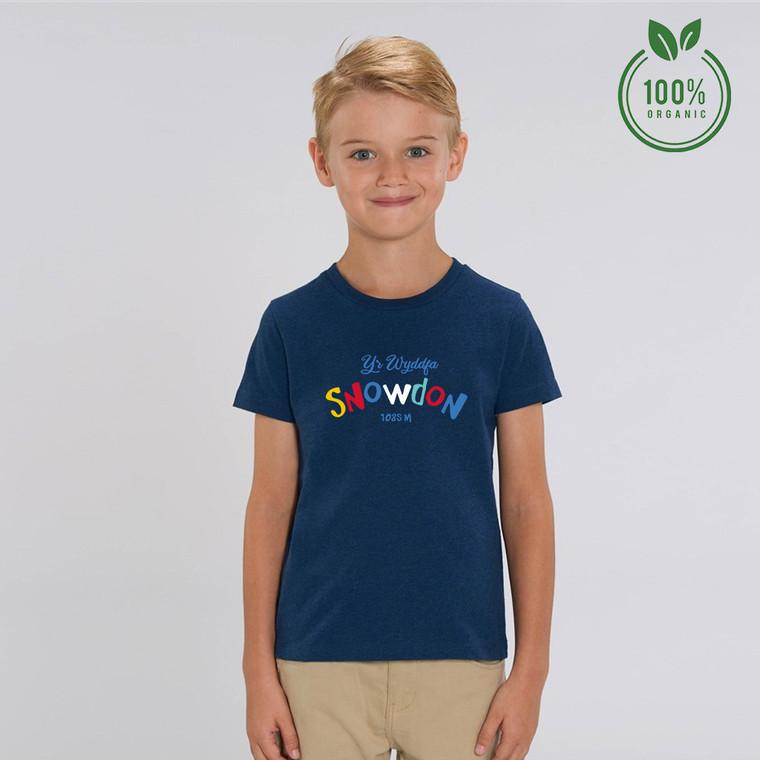 Boys Multicolour Snowdon Organic Cotton T-shirt