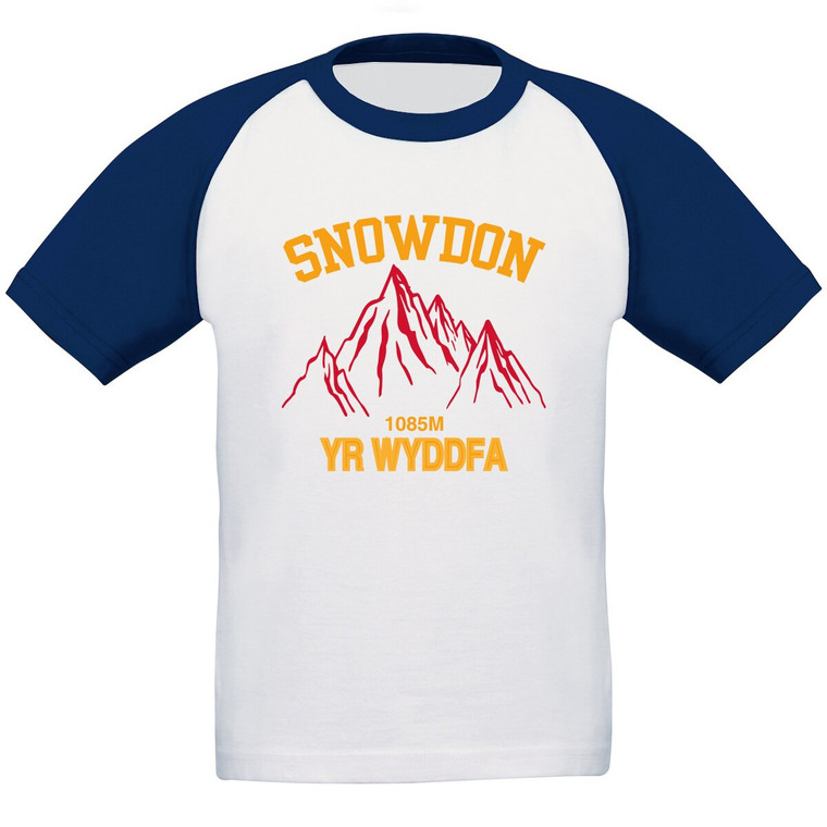 Girls Snowdon Red Mountain Baseball T-shirt