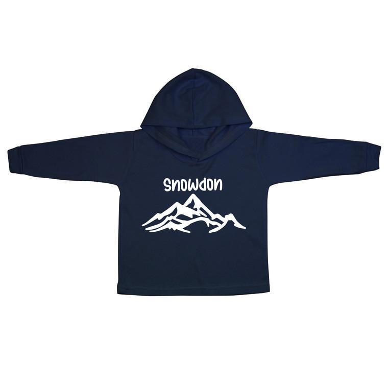 White Snowdon Mountain Baby Hoodie