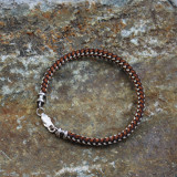 Braided Cord Bracelet With Sterling Hardware