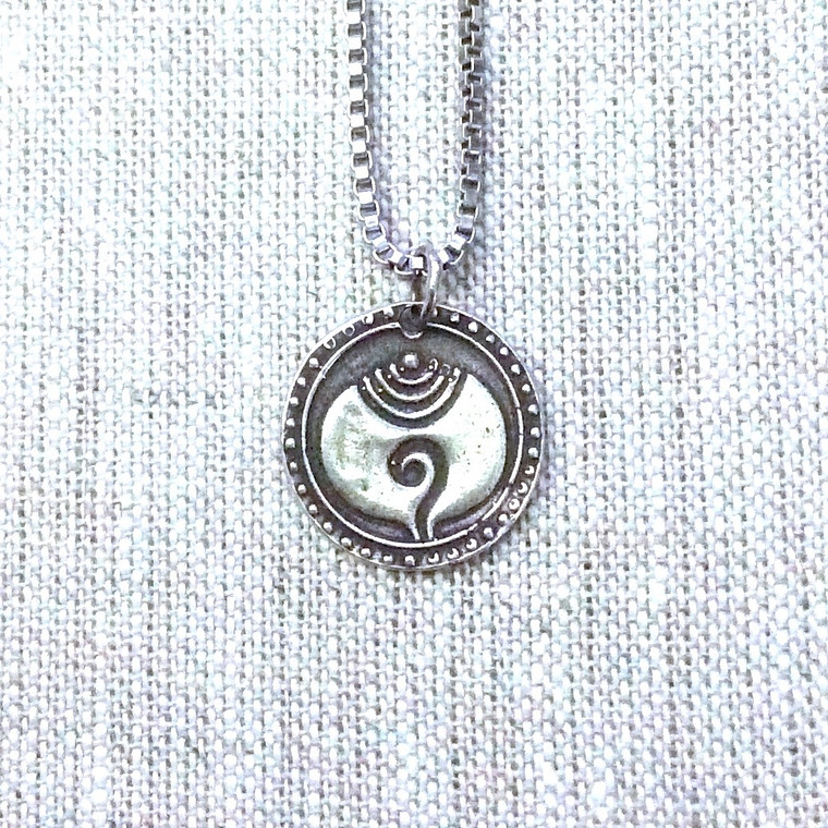 Southeast Asian Coin Pendant in Hill Tribe Silver