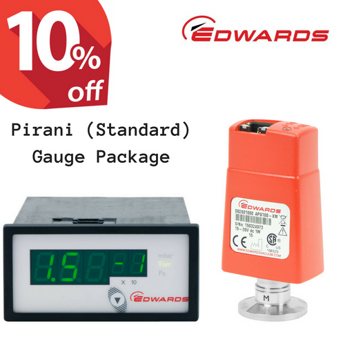 Edwards Pirani Vacuum Gauge Package | APG100-XM + ADC Controller + 3m cable, ATM to 10^-3 mbar (PIR-S-ADC)