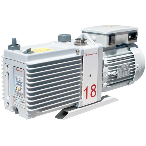 Edwards E2M18 Rotary Vane Vacuum Pump - 115V/230V, 1Ph, 50/60Hz (A36317984) - NanoVac