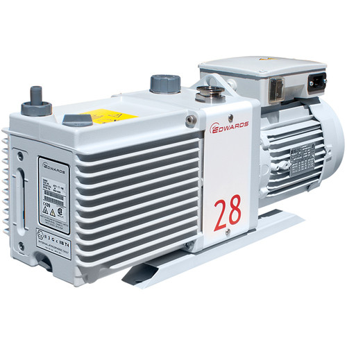 Edwards E2M28 Rotary Vane Vacuum Pump - 115V/230V, 1Ph, 50/60Hz (A37317984) - NanoVac