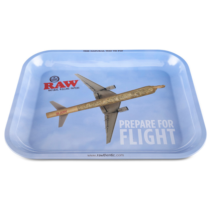 raw large rolling tray for dry herb prepare for flight on sale