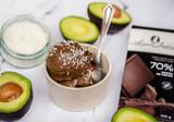 Crème glacée chocolat et noix de coco