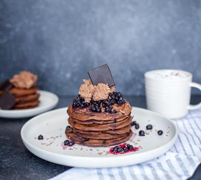 Pancakes chocolat & bleuets
