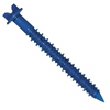 "1/4"" X 4"" Power-Con Hex Washer Head Concrete Screws, Slotted, Blue Finish (100/Pkg.)"