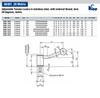 Kipp M20x90 Adjustable Tension Lever, External Thread, Stainless Steel, 20 Degrees, Size 4 (1/Pkg.), K0109.4201X90