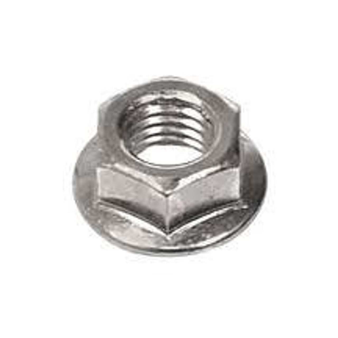 Long Eye Lifting Bolt with Nylon Lock Nuts Serrated Hex Nut Stainless Steel