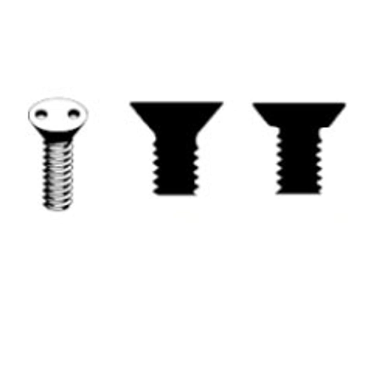 #8-32 Spanner Snake Eye Flat Head Security Machine Screws