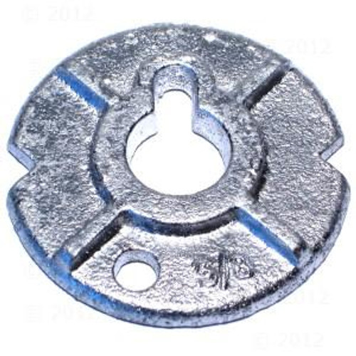 "1"" Round Malleable Iron Washers, Zinc Cr+3 (40 Lbs./Bulk Pkg.)"