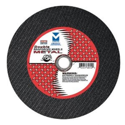 "12"" x 1/8"" x 1"" Stationary Saw Cut-Off Wheel - Double Reinforced,  Mercer Abrasives 600060 (10/Pkg.)"