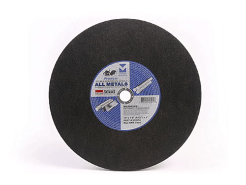 """12"""" x 1/8""""(5/32) x 1"""" Premium Cut-Off Wheel for Portable Gas Saw - Double Reinforced - All Metals,  Mercer Abrasives 612030 (10/Pkg.)"""