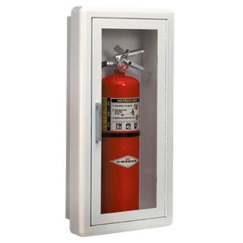 """Ambassador Series Steel Cabinet w/ Lock, Semi-Recessed (1 1/2""""), 24""""H x 10 1/2""""W x 5 1/2""""D"""