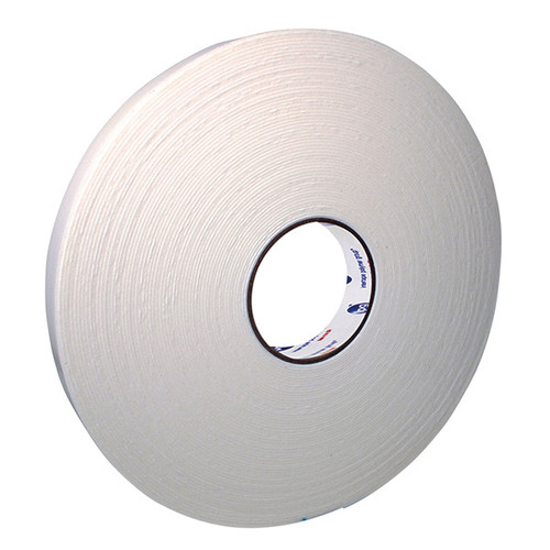 """Doubled-Coated PE Foam Tape, 1/16"""" thick. 36 mm x 33 m. White."""