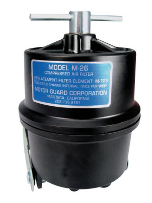 Motorguard Compressed Air Filters, 1/4 in (NPT), Sub-Micronic, Plasma Machines, 1 EA, #M26