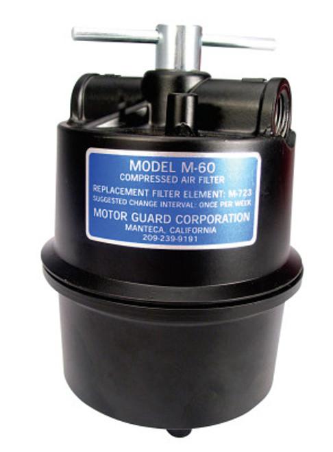 Motorguard Compressed Air Filters, 1/2 in (NPT), Sub-Micronic, Plasma Machines, 1 EA, #M60