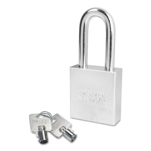 American Lock Steel Padlocks (Square Body w/Tubular Cylinder), 3/8 in Diam., 2 in Long, 6/BOX, #A7261