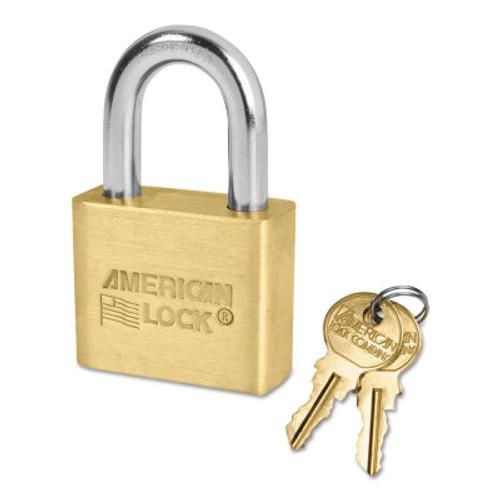 American Lock Brass Bodied Padlocks (Blade Cylinder), 5/16 in Diam., 1 1/8 in Long, 1/EA, #AL50