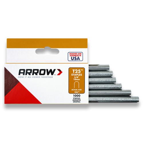 ARROW FASTENER T25 Type Staples, 3/8 in, 5/PK, #256M