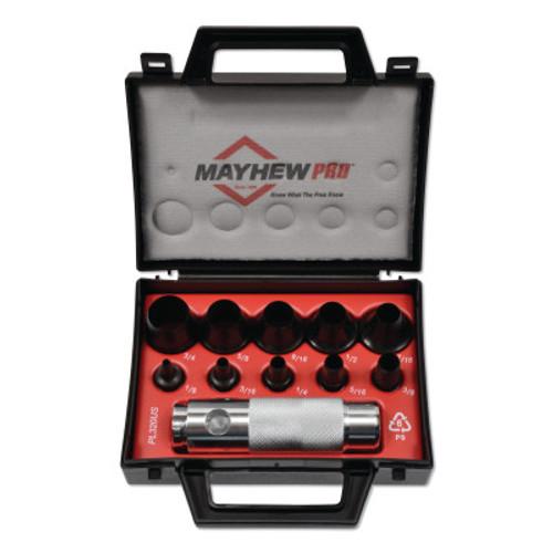 Mayhew™ 11 Pc Hollow Punch Tool Kits, Round, English, Handle; Case, 1/KIT, #66008