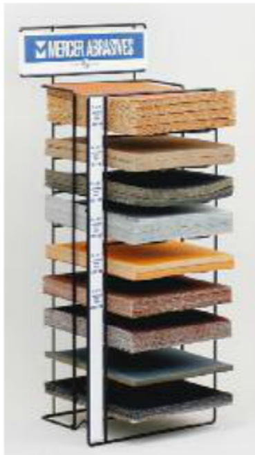 Sandpaper Sheet Display Stand, Mercer Abrasives 000DIS (Qty. 1)