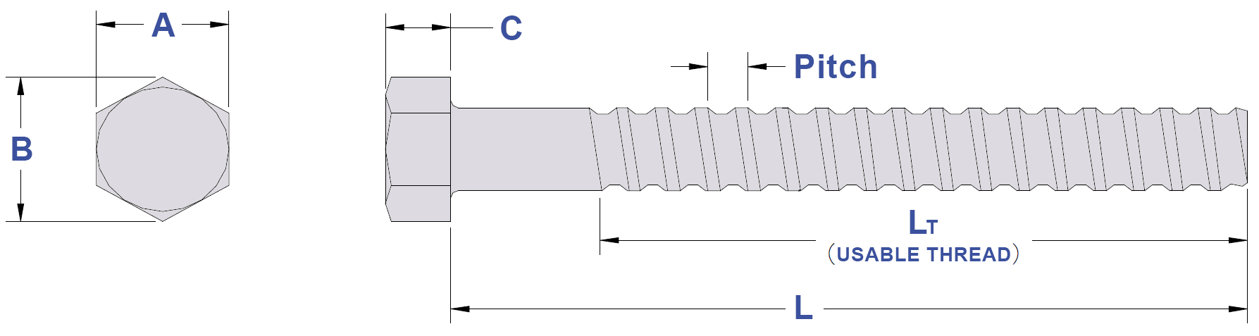 Coil Thread Length Drawing