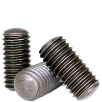 Stainless Steel Quantity: 100 Set Screws Flat Point - Grub-Blind-Allen-Headless Screw 18-8 #4-40 x 1//8 -